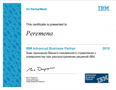 IBM Advanced Business Partner 2015